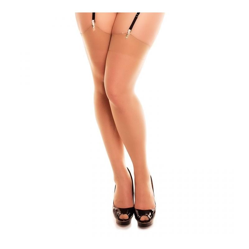 Bas grande taille - bas grande taille classique pour porte-jarretelles make up Glamory perfect 20