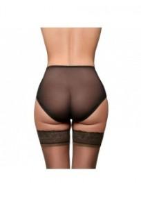 """culotte grande taille - culotte transparente rétro """"Betty"""" coloris noir (dos)"""