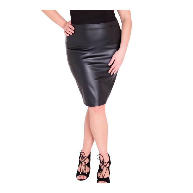13a0ee9d3d53 Jupe grande taille - jupe simili cuir