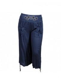 Pantalon fluide H3 bleu jeans grande taille 7/8eme (face)