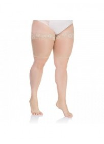 "collants ""basiques"" grande taille - bandes anti frottement Lida beige naturel"