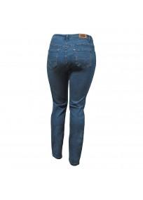 jean grande taille - jean slim bleu nanabelle (dos)