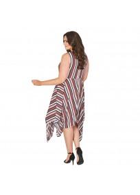 """Robe grande taille asymétrique """"Stripe"""" Lili London - porté dos"""