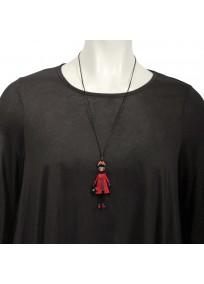 """collier grande taille - sautoir """"Marine"""" collection les pepettes Lol bijoux (porté)"""