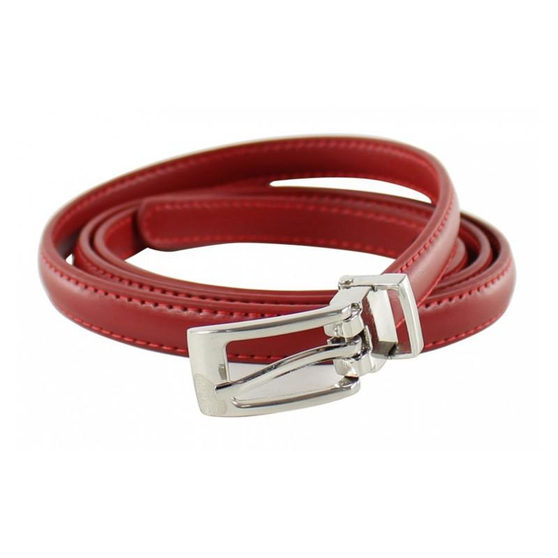 ceinture grande taille - fine ceinture 1.5 cm d'épaisseur rouge (entière)