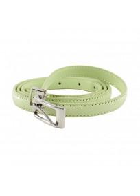 ceinture grande taille - fine ceinture 1.5 cm d'épaisseur vert clair - anis (entière)
