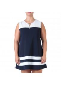 robe grande taille - robe trapèze sans manches avec étoiles 2W (zoom)