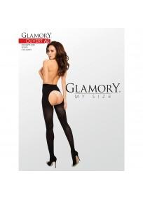 collant ouvert grande taille - collant ouvert opaque 60 deniers de dos Glamory