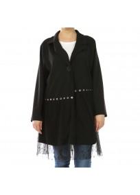 Veste grande taille - veste légère à oeillets 2W (face)