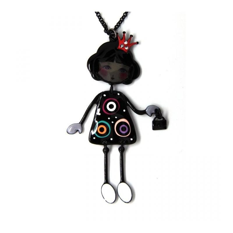 """collier fantaisie grande taille - collier pepette Elana coloris noir """"les pepettes"""" Lol bijoux"""