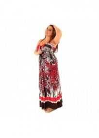 robe grande taille - maxidress ashanti lili london (face portée)