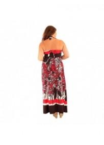 robe grande taille - maxidress ashanti lili london (dos portée)