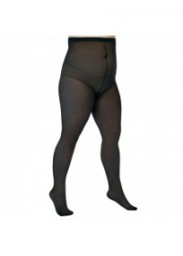 "Collant ""basique"" grande taille - collant 40 deniers noir Lida 141 (face)"