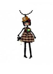 Collier fantaisie grande taille - sautoir Laureen marron Lol bijoux 15PCP18