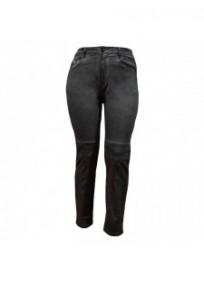 pantalon grande taille - jeans délavé avec surpiqûres Nana Belle coloris noir (face)