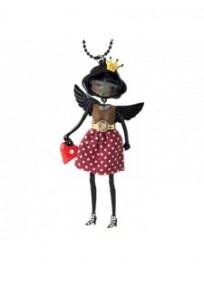 collier fantaisie grande taille - collier pepette Alexia coloris rouge lol bijoux